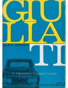 1962 ALFA ROMEO GIULIA TI  BETRIEBSANLEITUNG ITALIENISCH