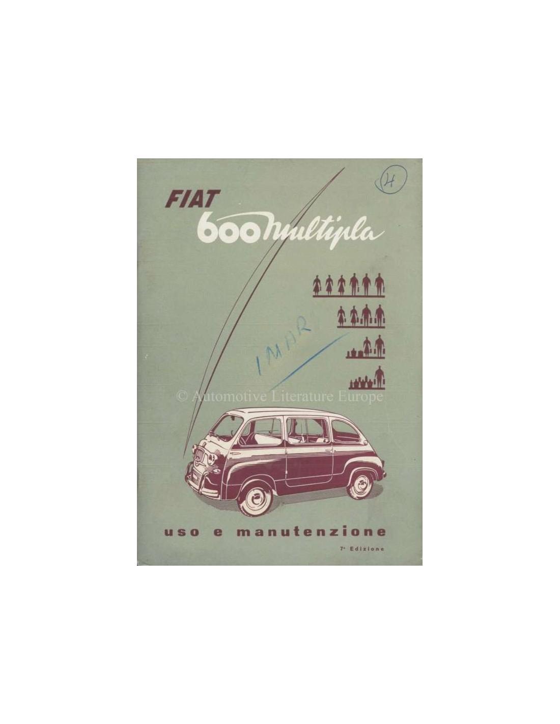 1959 fiat 600 multipla owners manual italian rh autolit eu Classic Fiat 500 Fiat 600 Abarth