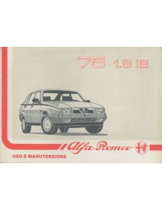 1988 ALFA ROMEO 75 1.8 IE OWNERS MANUAL ITALIAN