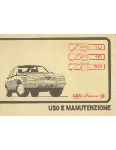 1987 ALFA ROMEO 75 OWNERS MANUAL ITALIAN