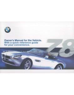 2000 BMW Z8 BETRIEBSANLEITUNG ENGLISCH (USA)