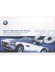 2001 BMW Z8 BETRIEBSANLEITUNG ENGLISCH (USA)