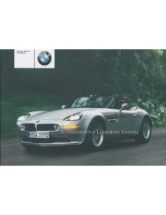 2002 BMW Z8 OWNERS MANUAL ENGLISH (US)