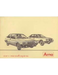 1983 ALFA ROMEO ARNA INSTRUCTIEBOEKJE ITALIAANS