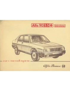 1984 ALFA ROMEO 90 2.5 QV INIEZIONE BETRIEBSANLEITUNG ITALIENISCH