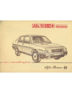 1984 ALFA ROMEO 90 2.5 QV INIEZIONE OWNERS MANUAL ITALIAN
