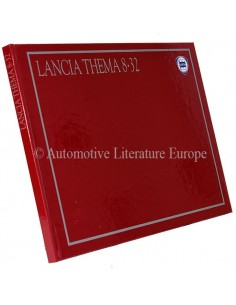 1987 LANCIA THEMA 8.32 HARDCOVER PROSPEKT ITALIENISCH
