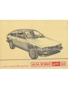 1982 ALFA ROMEO GTV 2.0 BETRIEBSANLEITUNG ITALIENISCH