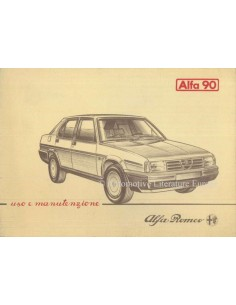 1984 ALFA ROMEO 90 OWNERS MANUAL ITALIAN