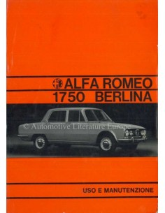 1971 ALFA ROMEO 1750 BERLINA OWNERS MANUAL ITALIAN