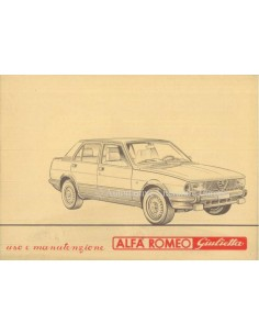1981 ALFA ROMEO GIULIETTA OWNERS MANUAL ITALIAN