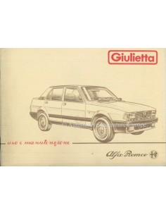 1984 ALFA ROMEO GIULIETTA BETRIEBSANLEITUNG ITALIENISCH