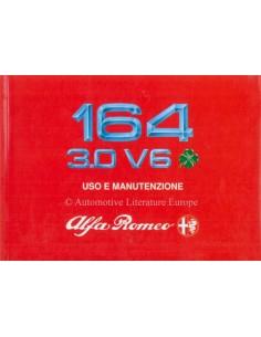 1990 ALFA ROMEO 164 3.0 V6 QV BETRIEBSANLEITUNG ITALIENISCH