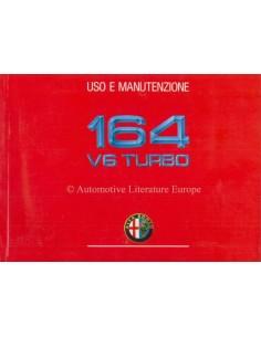 1990 ALFA ROMEO 164 V6 TURBO BETRIEBSANLEITUNG ITALIENISCH