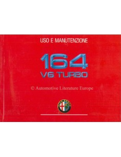 1990 ALFA ROMEO 164 V6 TURBO OWNERS MANUAL ITALIAN