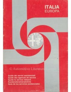 1981 ALFA ROMEO KUNDENDIENSTVERZEICHNIS EUROPA