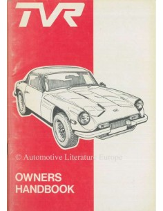 1977 TVR 3000M OWNERS MANUAL ENGLISH