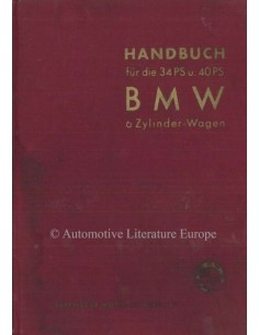 1934 BMW 315 OWNERS MANUAL GERMAN