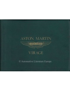 1990 ASTON MARTIN VIRAGE OWNERS MANUAL ENGLISH