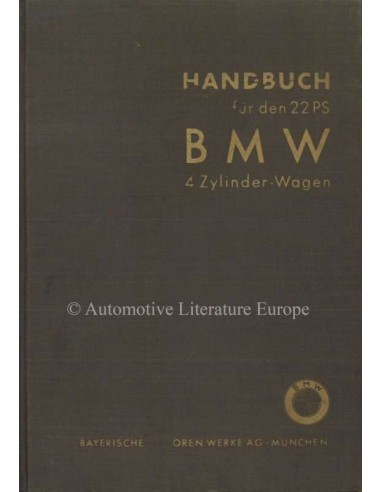 1935 BMW 309 OWNERS MANUAL GERMAN