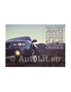 2005 HOLDEN CREWMAN 6 & 8 ONE TONNER BROCHURE AUSTRALIAN