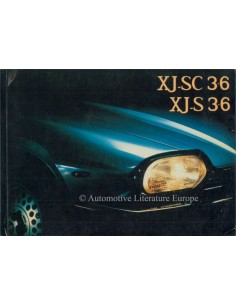 1984 JAGUAR XJ-SC/ XJ-S 3.6 OWNERS MANUAL GERMAN