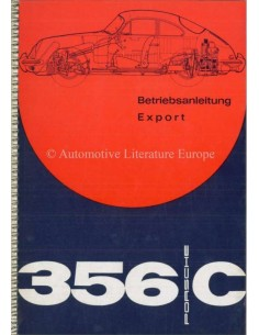 1963 PORSCHE 356 C OWNERS MANUAL GERMAN