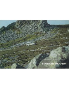 1976 LAND ROVER RANGE ROVER BROCHURE ENGELS