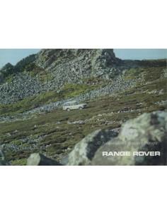 1976 LAND ROVER RANGE ROVER BROCHURE ENGLISH