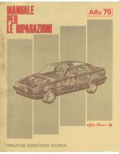 1986 ALFA ROMEO 75 WERKSTATTHANDBUCH ITALIENISCH