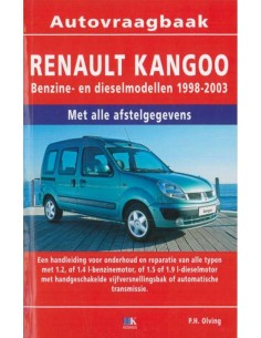 1998 - 2003 RENAULT KANGOO PETROL DIESEL REPAIR MANUAL DUTCH