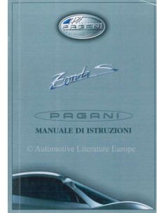 2003 PAGANI ZONDA S OWNER MANUAL ITALIAN