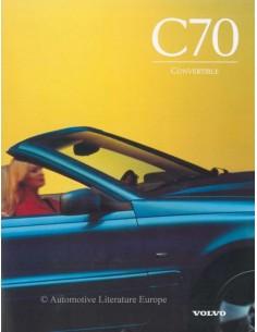 1997 VOLVO C70 CONVERTIBLE PROSPEKT ENGLISCH