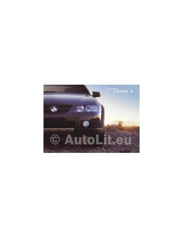 2004 HOLDEN CREWMAN CROSS 8 BROCHURE AUSTRALISCH