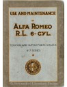 1928 ALFA ROMEO R.L. TOURING & SUPERSPORTS INSTRUCTIEBOEKJE ENGELS