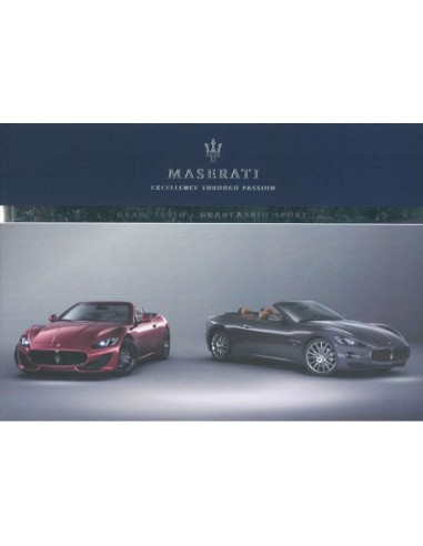 2012 MASERATI GRANCABRIO SPORT OWNERS MANUAL ENGLISH