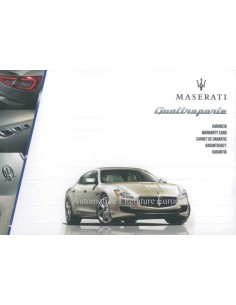 2013 MASERATI QUATTROPORTE MAINTENANCE & WARRANTY MANUAL