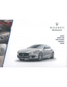 2016 MASERATI QUATTROPORTE MAINTENANCE & WARRANTY MANUAL
