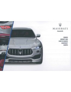 2016 MASERATI LEVANTE MAINTENANCE & WARRANTY MANUAL