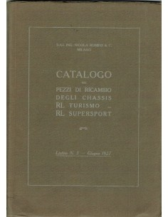 1927 ALFA ROMEO R.L. TURISMO & SUPERSPORTSSPARE PARTS MANUAL