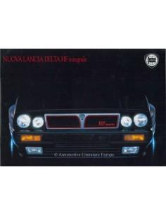 1988 LANCIA DELTA HF INTEGRALE BROCHURE ITALIAN