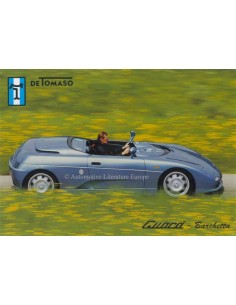 2000 DE TOMASO GUARA COUPE & BARCHETTA LEAFLET