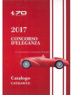 2017 FERRARI CONCORSO D'ELEGANZA CATALOGUE ITALIAN ENGLISH