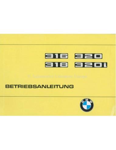 1977 BMW 3 SERIES OWNERS MANUAL GERMAN