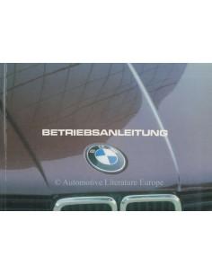 1982 BMW 3ER BETRIEBSANLEITUNG DEUTSCH