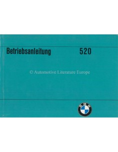 1973 BMW 5 SERIES OWNERS MANUAL GERMAN