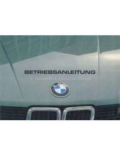 1982 BMW 5 SERIES OWNERS MANUAL GERMAN