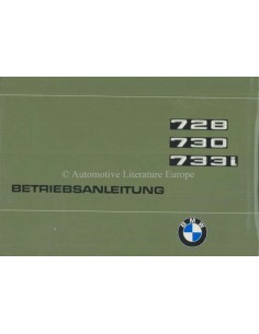 1977 BMW 7 SERIES OWNERS MANUAL GERMAN