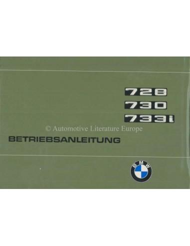 1977 BMW 7 SERIE INSTRUCTIEBOEKJE DUITS