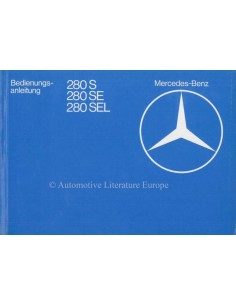 1980 MERCEDES BENZ S CLASS OWNERS MANUAL GERMAN